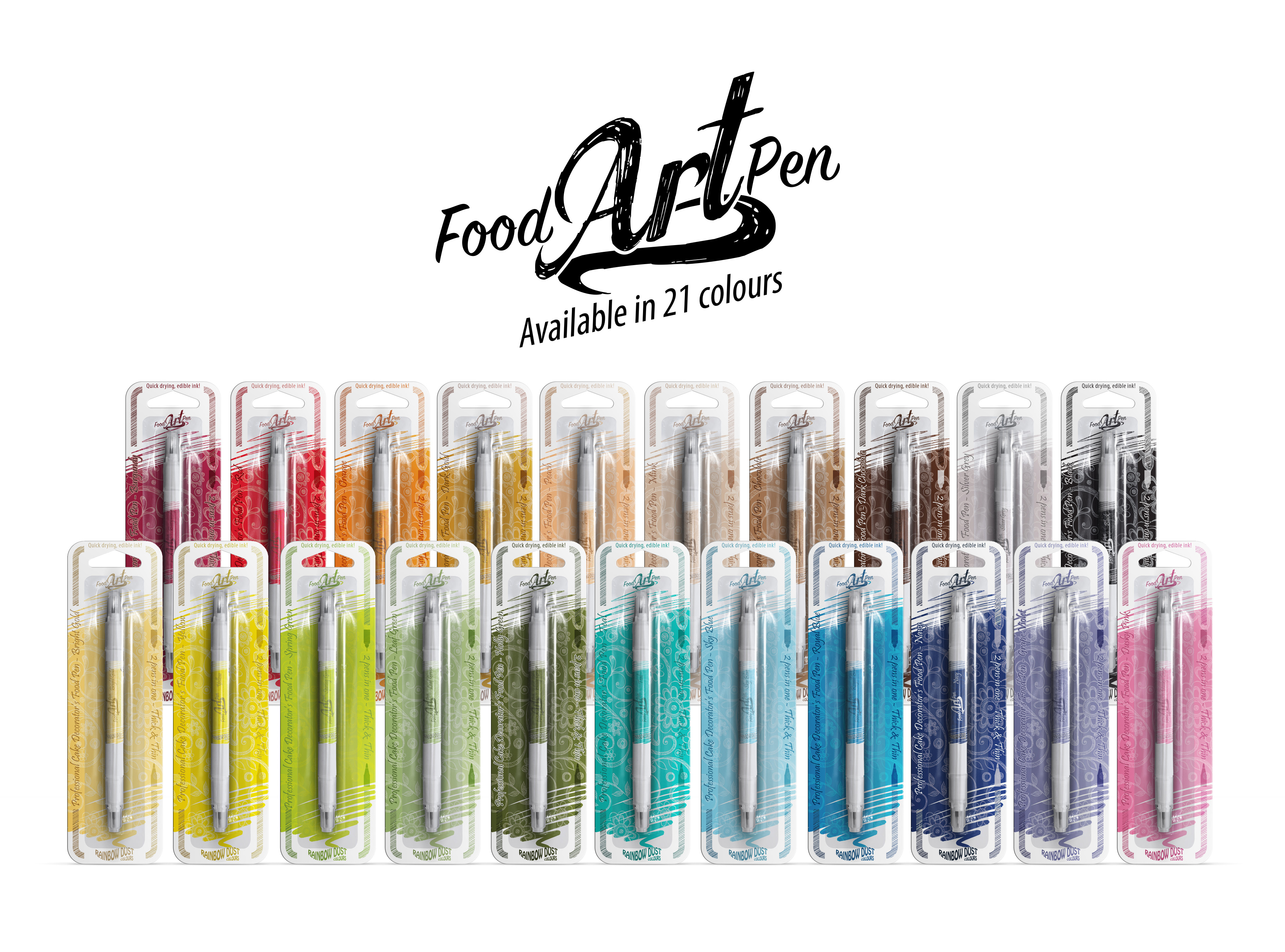 Food Art Pens - Group Shot
