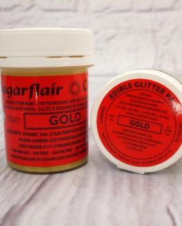 gold edible glitter paint